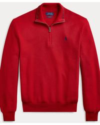Polo Ralph Lauren Baumwollpullover mit Reißverschluss. - Grau