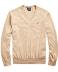 Ralph Lauren Cotton V-neck Sweater - Natural
