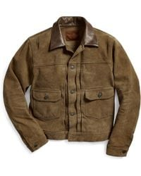 RRL - Roughout-suede Jacket - Lyst