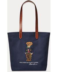 Polo Ralph Lauren Cabas Polo Bear en sergé - Bleu