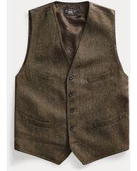RRL Gilet in tweed misto lana - Multicolore
