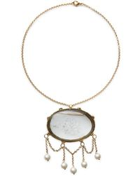 Ralph Lauren - Brooch-pendant Necklace - Lyst