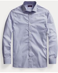 Ralph Lauren Purple Label Camicia a righe bengalesi - Blu