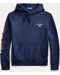 Ralph Lauren Kapuzenshirt Polo Sport aus Fleece - Blau