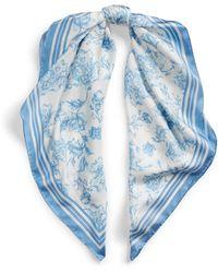 Ralph Lauren Alexa Floral Silk Scarf - Blue