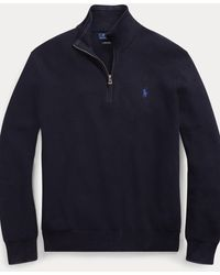 Ralph Lauren Jersey de algodón con cremallera - Azul