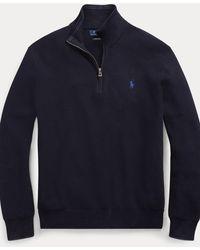 Polo Ralph Lauren Jersey De Algodón Con Cremallera - Azul