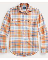 Polo Ralph Lauren Camisa De Trabajo De Sarga Custom Fit - Multicolor