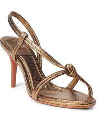 Ralph Lauren Metallic Calfskin Knotted Sandal