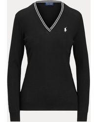 Ralph Lauren Golf Jersey De Golf De Algodón - Negro