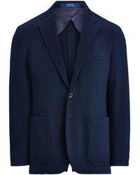 Polo Ralph Lauren Blazer en tricot Polo Soft - Bleu