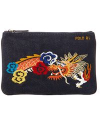 Polo Ralph Lauren - Dragon Canvas Mini Zip Pouch - Lyst