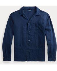 Polo Ralph Lauren Camicia in lino Classic-Fit - Blu