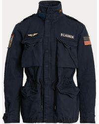 Polo Ralph Lauren Veste militaire en sergé de coton - Bleu