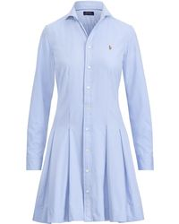 Polo Ralph Lauren - Fit-and-flare Shirtdress - Lyst