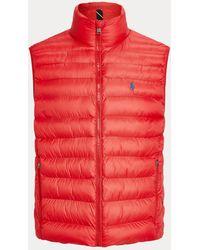 Polo Ralph Lauren Verstaubare Steppweste - Rot