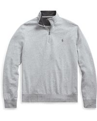 Polo Ralph Lauren Jerseypullover mit Reißverschluss - Grau