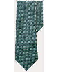 Ralph Lauren Purple Label Corbata De Seda Estampada - Verde