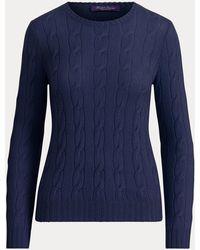 Ralph Lauren Cable-knit Cashmere Jumper - Blue