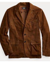 RRL Suede Sport Coat - Brown
