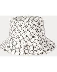 Ralph Lauren Reversible Logo Bucket Hat - White