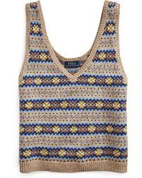 Polo Ralph Lauren Débardeur en tricot Fair Isle - Multicolore