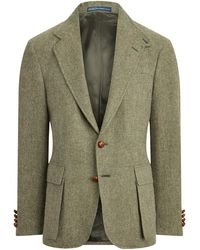 Ralph Lauren The Rl67 Plaid Tweed Jacket - Green