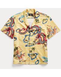 RRL Camisa Con Estampado De Dragón - Metálico
