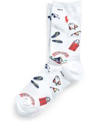 Ralph Lauren - Beach Graphic Crew Socks - Lyst