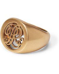 Ralph Lauren - Gold-plated Signet Ring - Lyst
