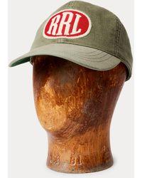 RRL Cappellino baseball rasatello con logo - Multicolore