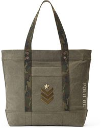 Polo Ralph Lauren - Military Canvas Tote Bag - Lyst