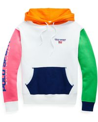 Ralph Lauren Color-blocked Logo Fleece Hoodie - Multicolor