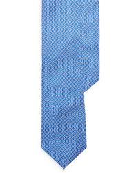 Ralph Lauren Micro-hexagon Silk Tie - Blue