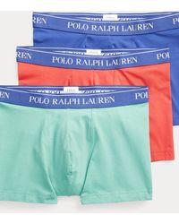 Polo Ralph Lauren Tre paia di boxer in cotone stretch - Blu