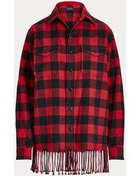 Polo Ralph Lauren Fringe-trim Plaid Shirt - Red