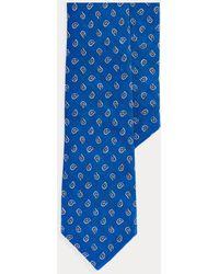 Polo Ralph Lauren Corbata Estrecha De Lino Con Estampado De Pino - Azul