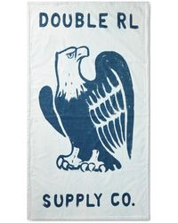 RRL Cotton Terry Beach Towel - Blue