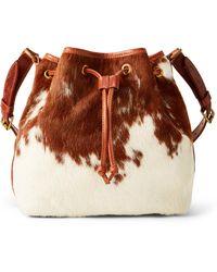 Ralph Lauren Haircalf Bucket Bag - Brown