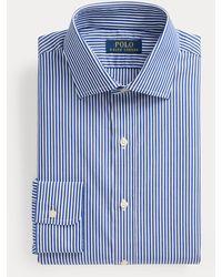 Polo Ralph Lauren Chemise rayée Regent cintrée en popeline - Bleu