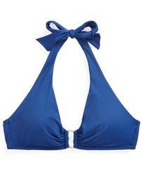 Ralph Lauren Ring-front Halter Bikini Top - Blue