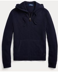 Polo Ralph Lauren Waschbare Kaschmir-Kapuzenjacke - Blau