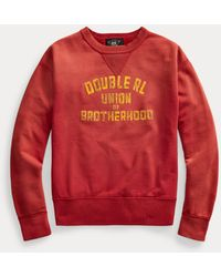RRL French Terry Graphic Sweatshirt - Red