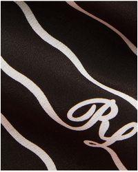 Ralph Lauren Purple Label Corbata De Seda Con Iniciales Onduladas - Negro