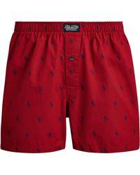 Polo Ralph Lauren Boxer en coton - Rouge