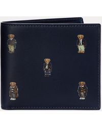 Polo Ralph Lauren Portefeuille Polo Bear cuir - Bleu
