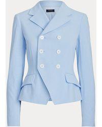 Polo Ralph Lauren Blazer Jersey Con Doble Botonadura - Azul