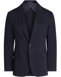 Polo Ralph Lauren Polo-Soft Anzugjacke aus Chino - Blau