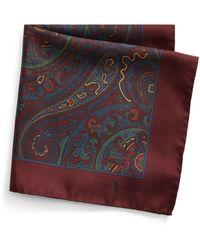 Polo Ralph Lauren Pochette en soie à motif cachemire - Multicolore