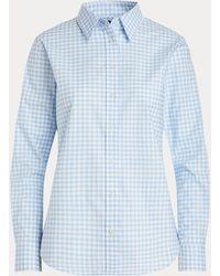 Ralph Lauren Easy Care Gingham Cotton Shirt - Blue